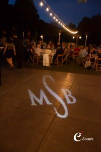 monogram on dance floor