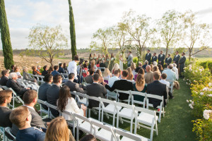 ceremony at falkner winery